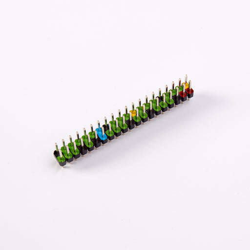 Odseven Raspberry Pi 2X20 Double Row Pin Male Colour-coded GPIO Header for Pi Zero