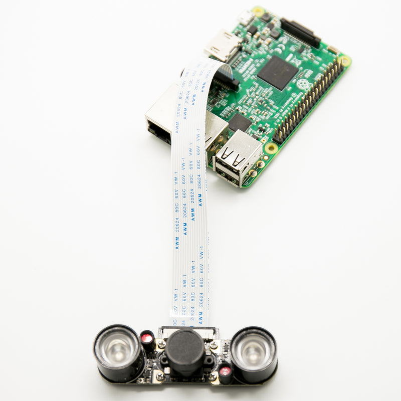 Odseven Raspberry Pi 3 Model B+ Camera Kit 5MP Focal Adjustable Night Vision Camera