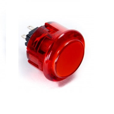 Odseven Arcade Button - 30mm Translucent Red Wholesale