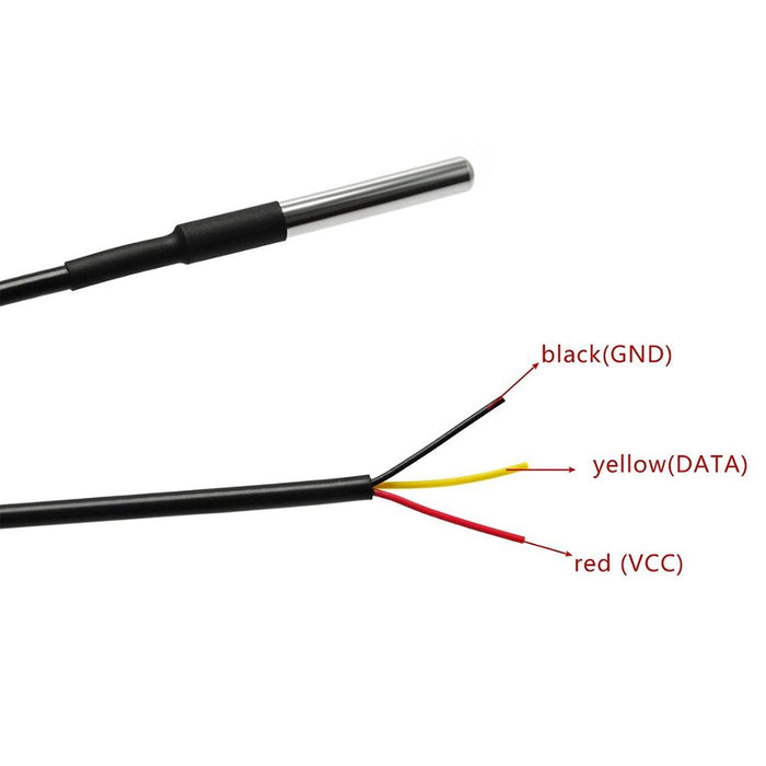 ODSEVEN Waterproof DS18B20 Digital temperature Thermal Probe Sensor For Rassberry Pi