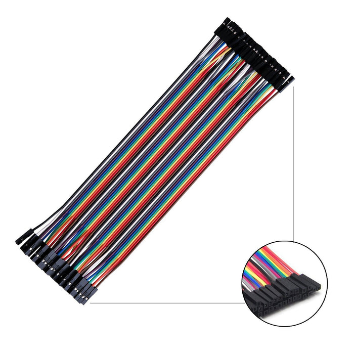 Odseven Premium Female/Female Raw Custom Jumper Wires - 40 x 6 (150mm)
