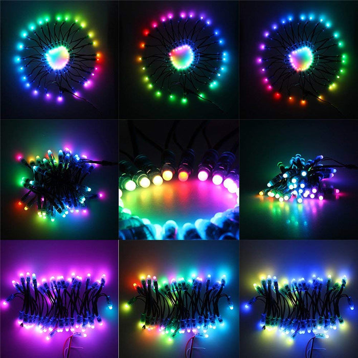 Odseven Diffused Thin Digital RGB LED Pixels (Strand of 25) - WS2801