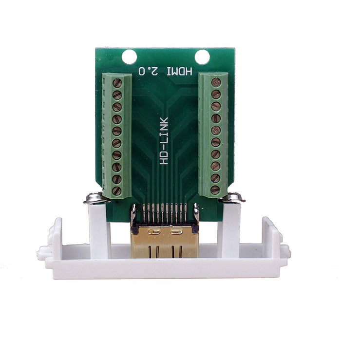 Odseven Panel Mount HDMI Socket to Terminal Block Breakout