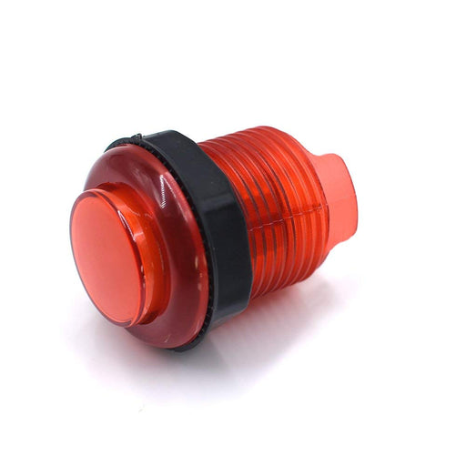 ODSeven Arcade Button with LED - 30mm Translucent Red Wholesale