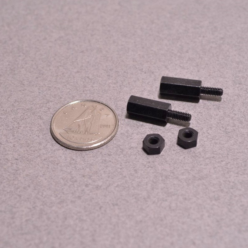 Odseven Brass M2.5 Standoffs for Pi HATs - Black Plated - Pack of 2 Wholesale