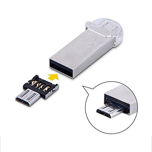 Ultra Mini DM Micro USB 5pin OTG Adapter Connector for Cell Phone Tablet & USB Cable & Flash Disk
