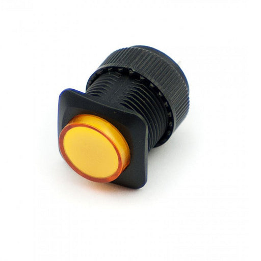 16mm Illuminated Pushbutton - Yellow Latching On/Off Switch Wholesale