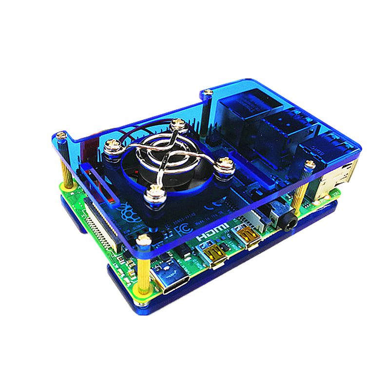 Odseven Raspberry Pi 4 Model B Case with Cooling Fan Mount