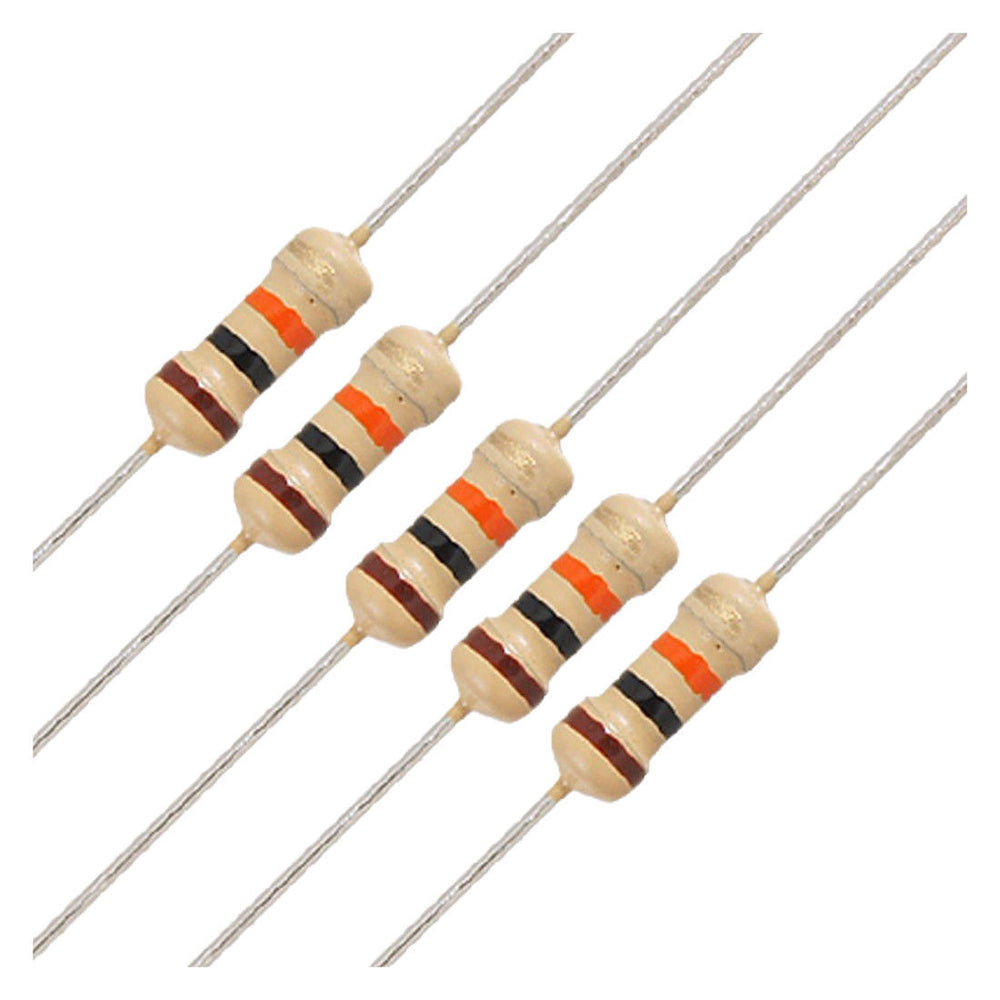 Odseven Wholesale Through-Hole Resistors - 10K ohm 5% 1/4W - Pack of 25