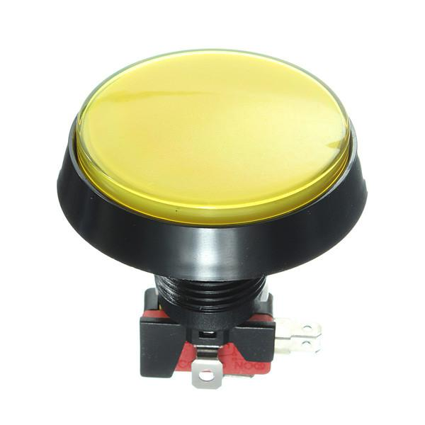 Odseven Large Arcade Button with LED - 60mm Yellow Wholesale
