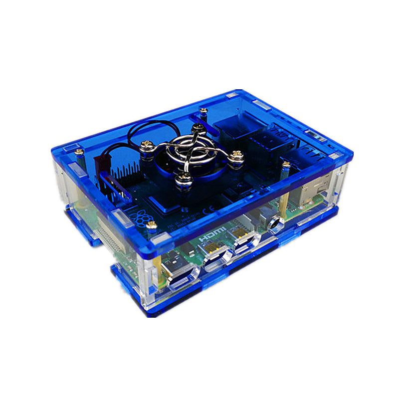 Odseven Acrylic Case with Cooling Fan Mount for Raspberry Pi 4 Model B