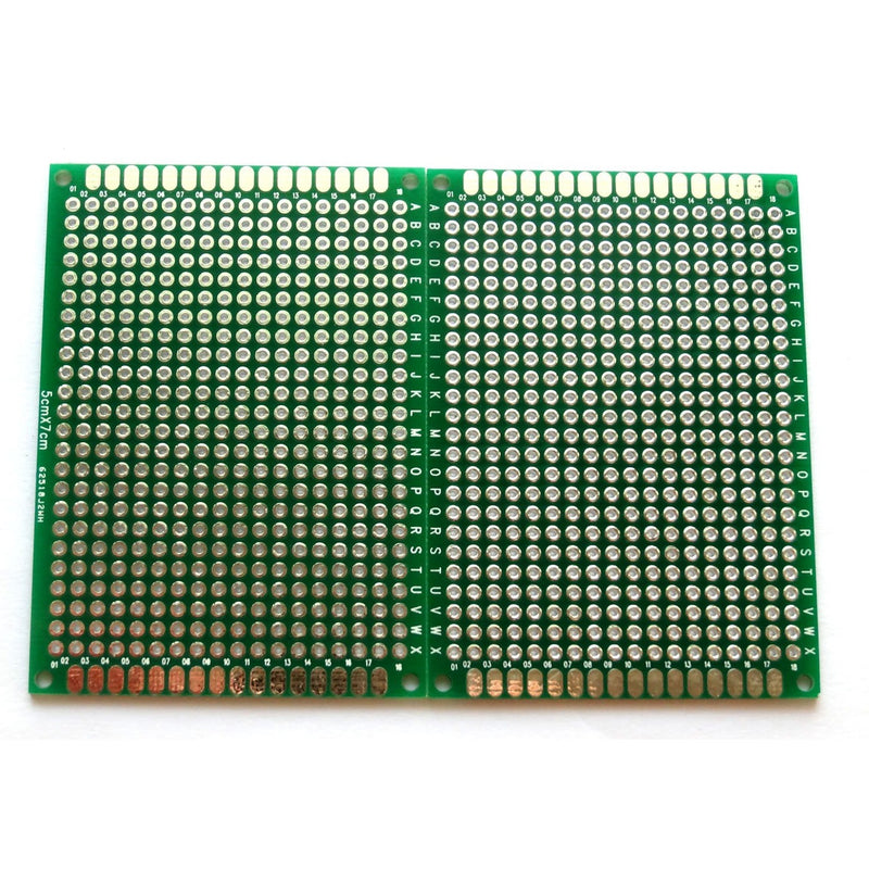 Penta Angel 10pcs Double-Side Prototype PCB Universal Printed Circuit Board (5x7cm)