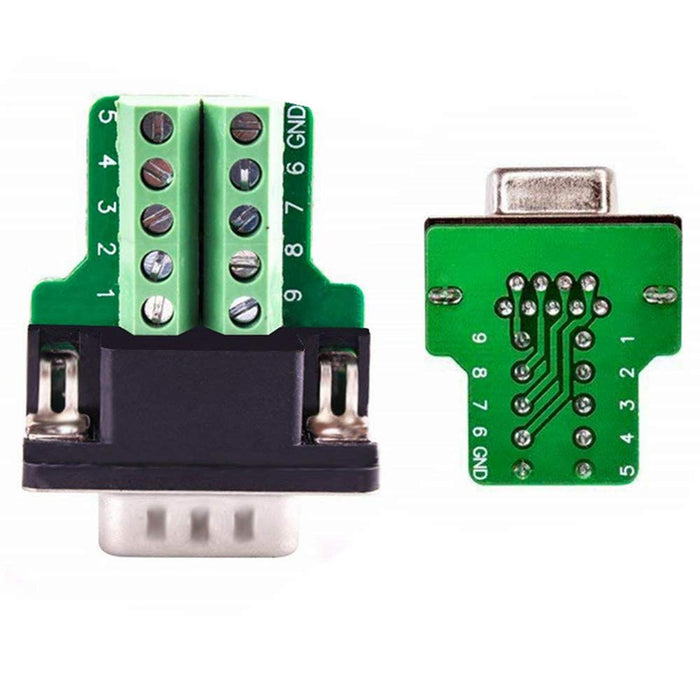 Wholesale DE-9 (DB-9) Male Plug to Terminal Block Breakout