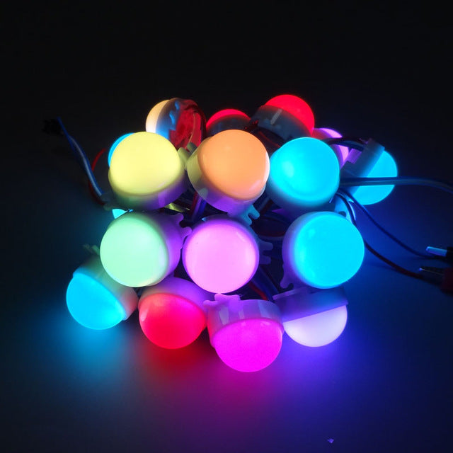 Odseven 30mm Dots - 12V Digital RGB LED Pixels (Strand of 20) - WS2801