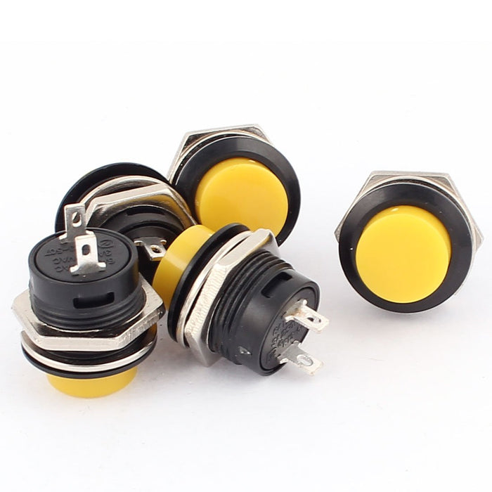 Odseven 16mm Panel Mount Momentary Pushbutton - Yellow Wholesale
