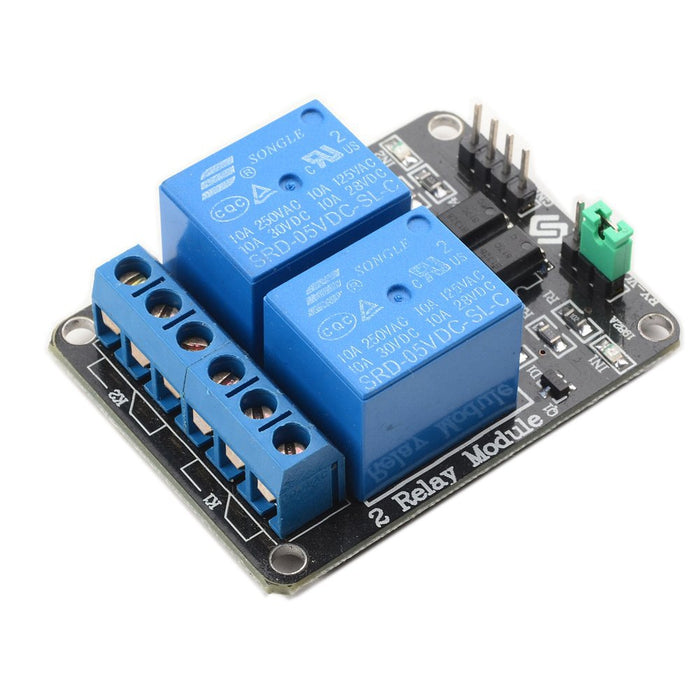 Odseven 5V 2 Channel 5V Relay Module with Optocoupler Low Level Trigger Expansion Board