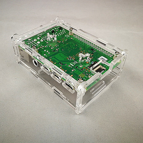 Odseven Acrylic  Raspberry Pi 4 Model B Case with Cooling Fan Mount