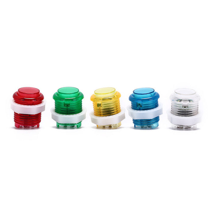 Odseven Mini LED Arcade Button - 24mm Translucent Red Wholesale