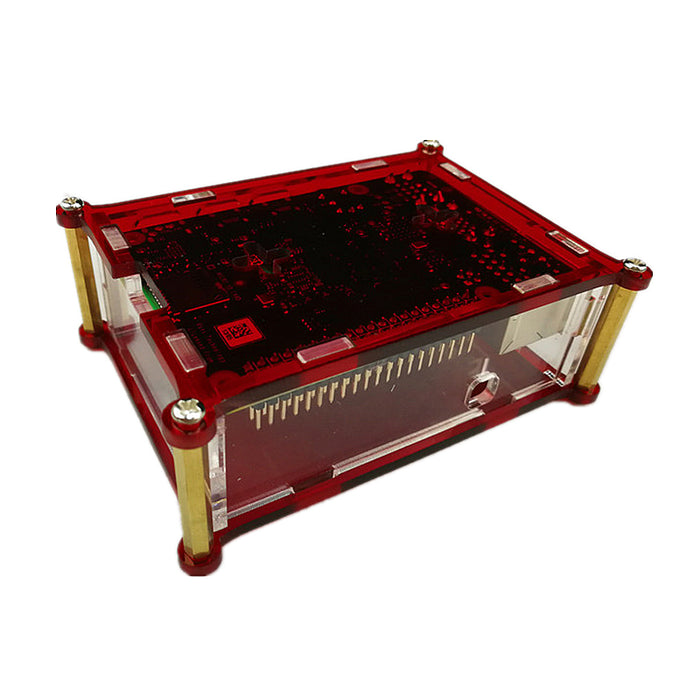Odseven Two-tone Acrylic Case with Cooling Fan Mount for Raspberry Pi 4 Model B