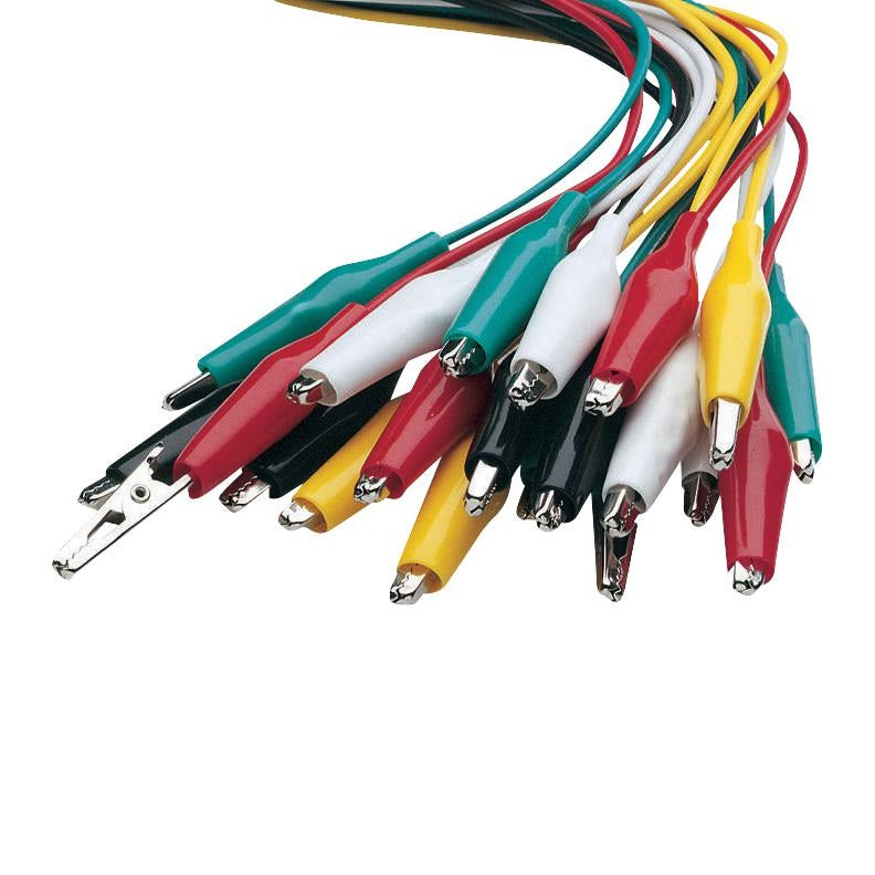 Odseven Large Alligator Clip Test Lead (set of 10)