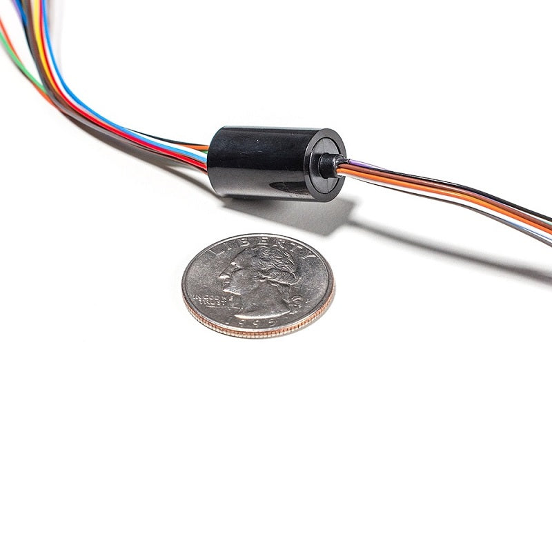 Odseven Miniature Slip Ring - 12mm Diameter-12 Wires-Max 240V @ 2A