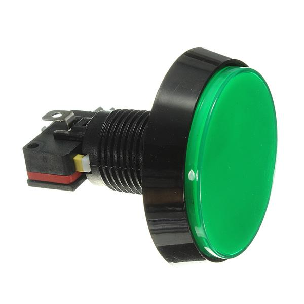 Odseven  Large Arcade Button with LED - 60mm Green Wholesale