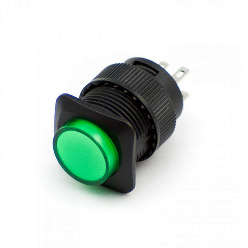 16mm Illuminated Pushbutton - Green Latching On/Off Switch Wholesale