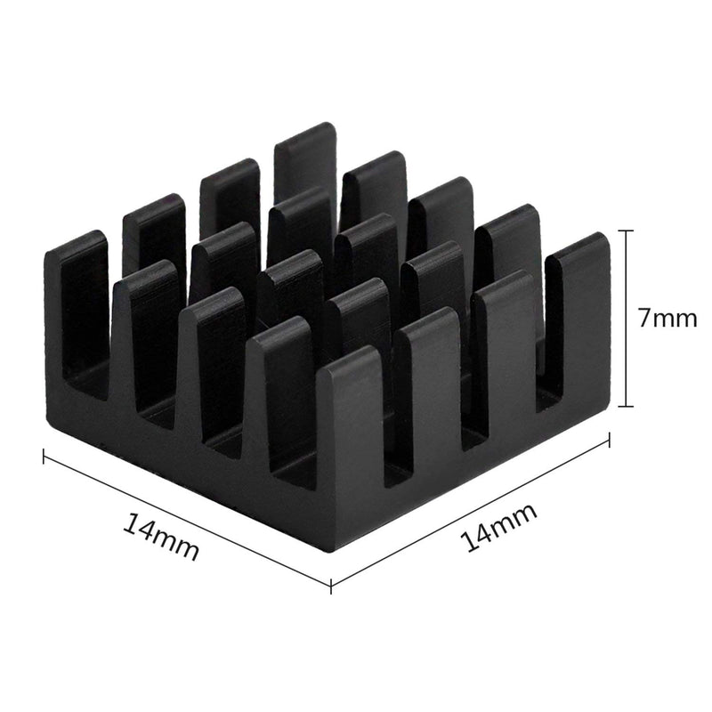 Wholesale Black Aluminum Heatsink Cooler Kit for Raspberry Pi 3, Pi 2, Pi Model B+