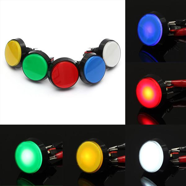 Odseven Large Arcade Button with LED - 60mm Red Wholesale