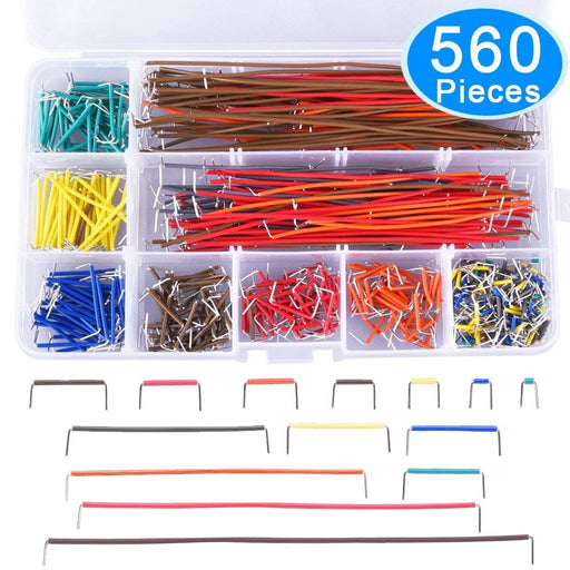 Odseven  560 Pieces Jumper Wire Kit 14 Lengths Assorted Preformed Breadboard