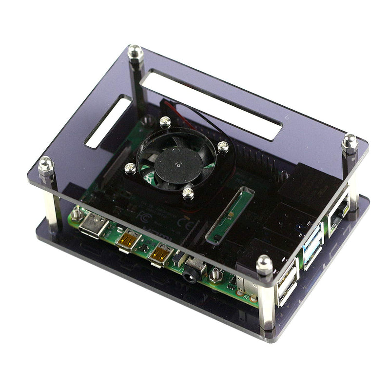 Double-layer Acrylic Case for Raspberry Pi 4 Model B Odseven