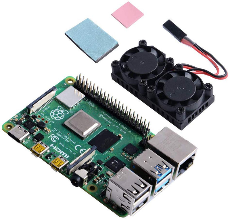 Raspberry Pi 4B Dual Fan with Heatsink
