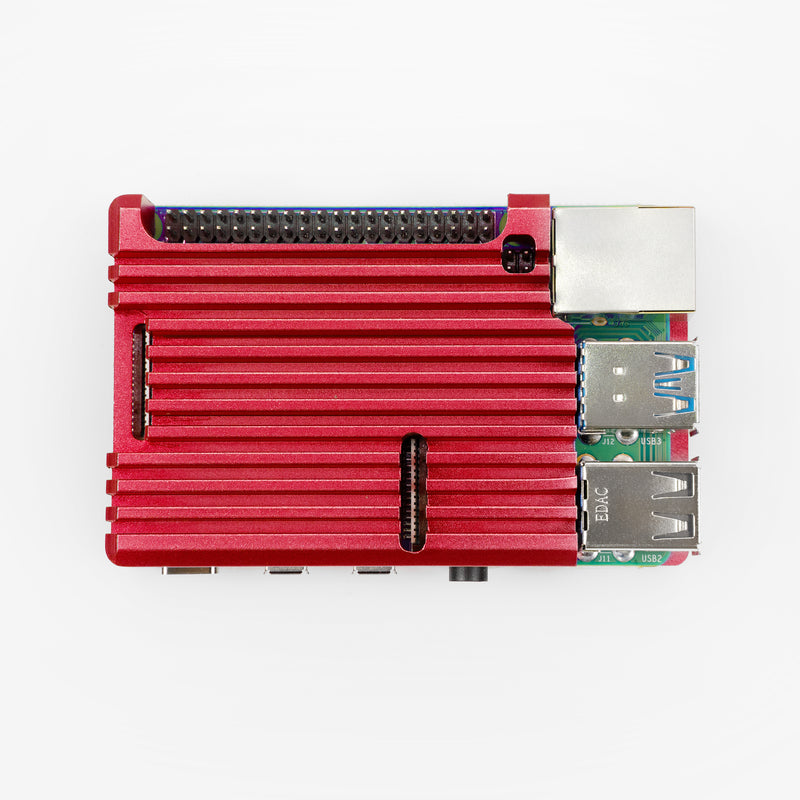 ODSEVEN Armor Aluminum Cooling Case for Raspberry Pi 4B Red