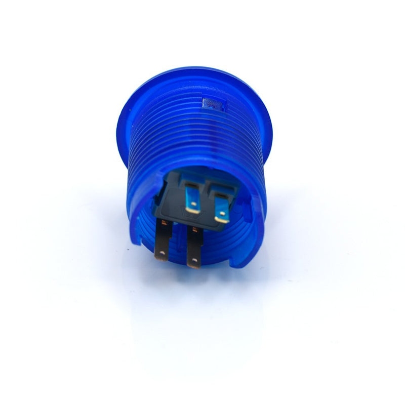 Odseven Arcade Button with LED - 30mm Translucent Blue Wholesale