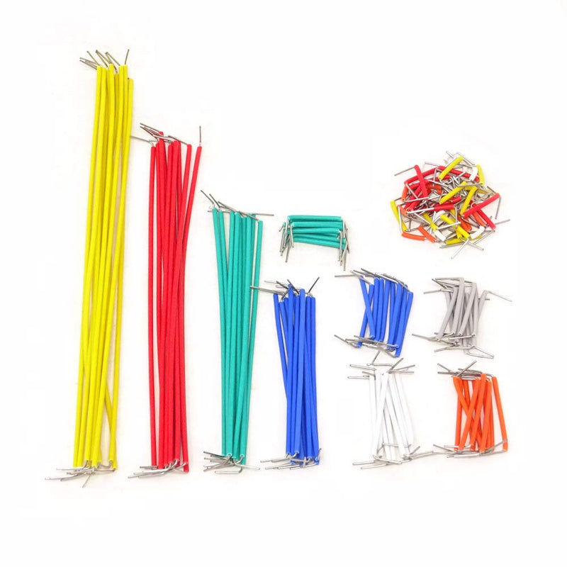 Odseven  280 Pieces Jumper Wire Kit 14 Lengths Assorted Preformed Breadboard Jumper Wire