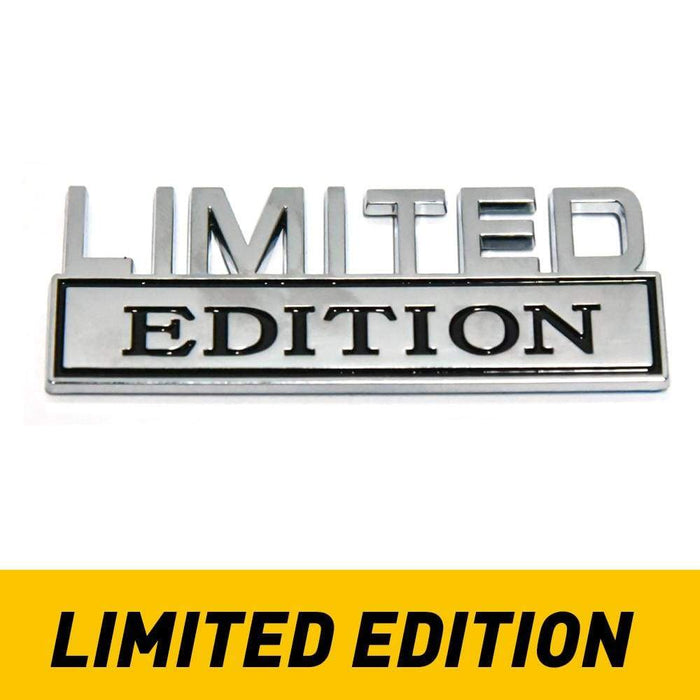 1 Set SHITBOX EDITION+ LIMITED EDITION Emblems 3D Badge Car Decal for Truck Sticker Chrome/Black