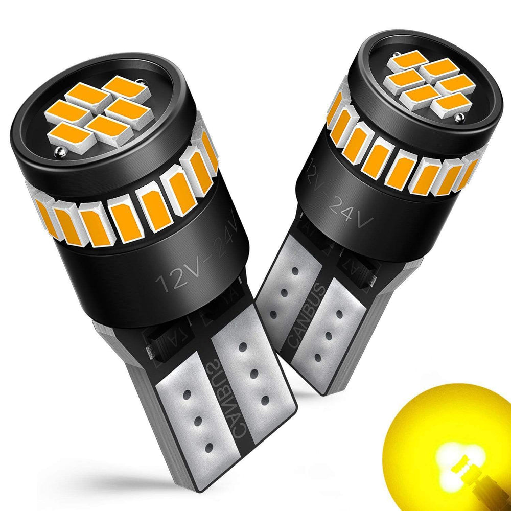 2017 Ford F150 Side Marker Light Bulb Front Amber Bulbs, Pack of 2