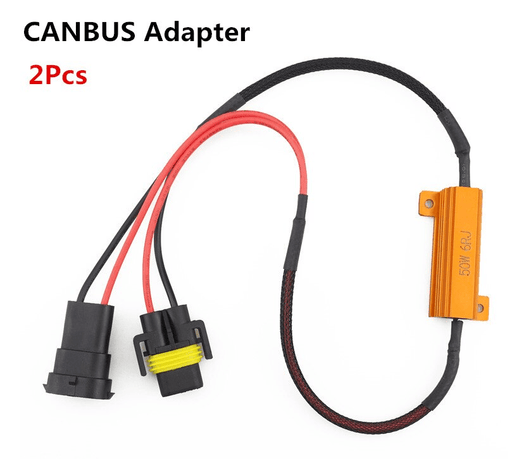2Pcs 9005/HB3 9006/HB4 H8 H11 LED Bulb Decoder Resistor 50W Canbus Error Canceller Wire Harness Adapter for Car Fog Lamp Light 5.0