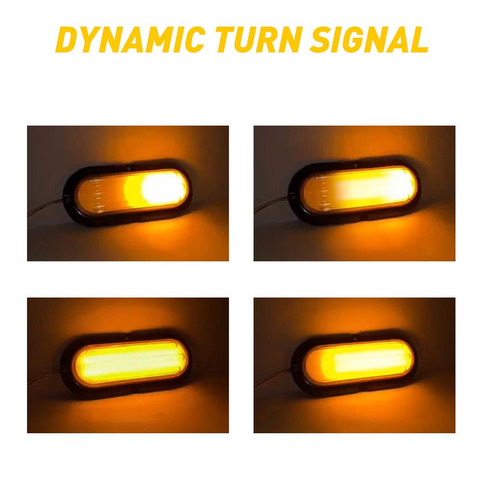 2x Strobe Flashing LED Truck Trailer Light Brake Sequential Turn Signal Marker Daytime Tail Stop by AUXITO