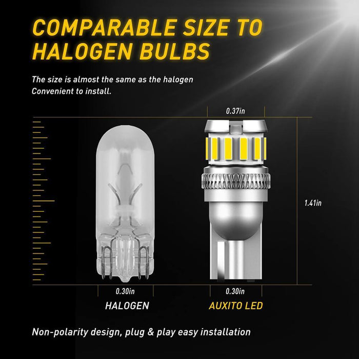 2x W5W LED T10 LED Bulbs Canbus 4014 3020 SMD For Car Parking Position Lights Interior Map Dome Lights 12V White Auto Lamp 6500K