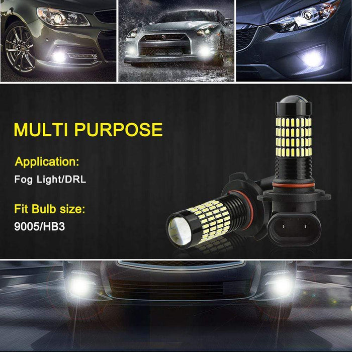 9005 LED Fog Bulbs, 4014 102-SMD HB3 Replacement Lights for DRL/Fog Lights
