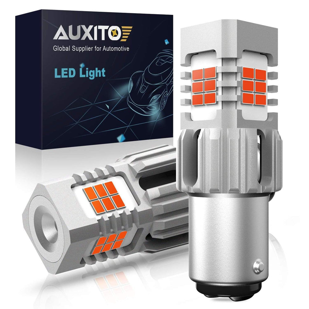 AUXITO 1157 BAY15D Red LED Brake Tail Stop Turn Light Bulb Error Free, Super Bright Red Bulbs Car Brake Tail Stop Light