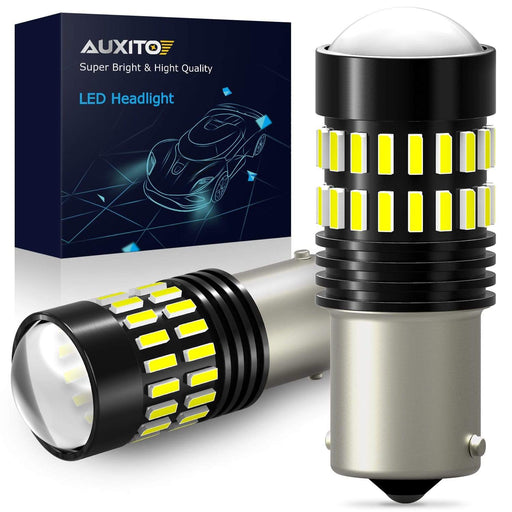AUXITO 1200 Lumens 1156 LED Bulbs 48-SMD 4014 LED Chipsets with Projector for Backup Reverse Lights