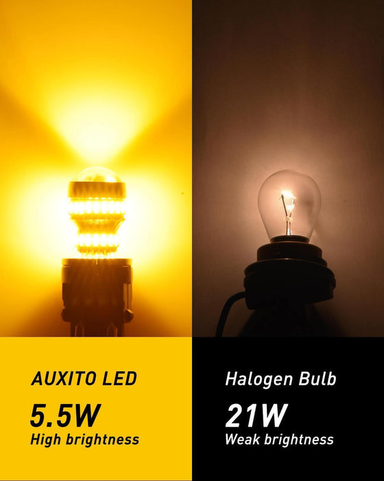 AUXITO 2018 2019 Ford F150 LED Turn Signal Light Bulb Rear Amber Yellow Bulbs