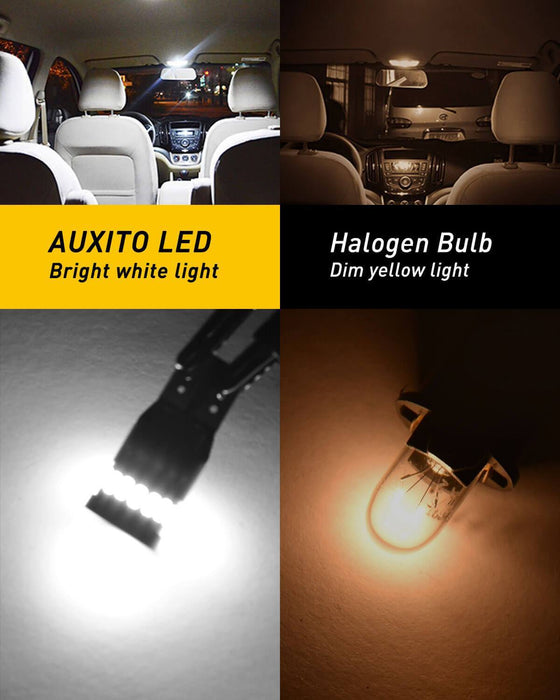 10Pcs T10 2835 LED Canbus Super Bright Car Width Lights Lamps Bulbs Pure White