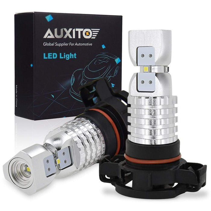 AUXITO 5202 H16 LED Fog Light Bulbs Super Bright 6000K Xenon White H16 LED Fog Lamp for Fog Lights or DRL (2018 Newest,2 Pack)