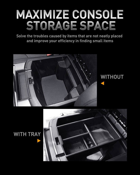 AUXITO Center Console Armrest Insert Organizer Tray for Dodge Ram 1500 Accessories 2009-2018