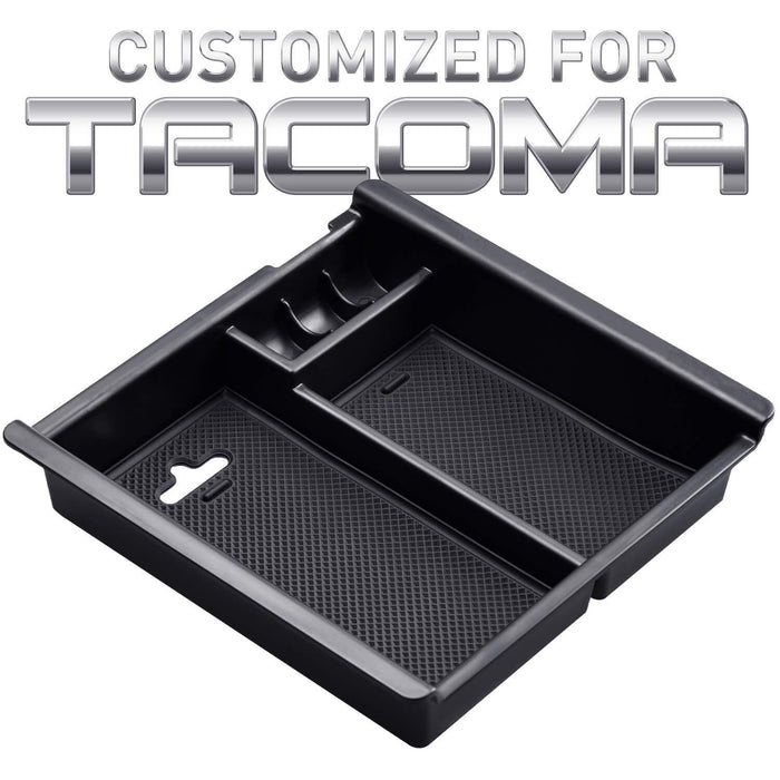 AUXITO Center Console Tray for Toyota Tacoma 2016 2017 2018 2019 TRD Truck Armrest Secondary Storage Box