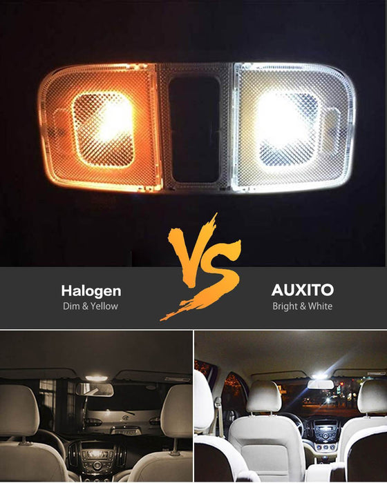 AUXITO For 2020 Ford F150 License Plate Light Bulbs and Side Marker Light Bulb Front