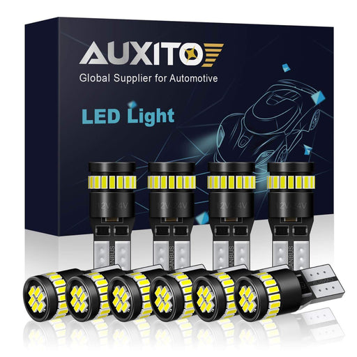 AUXITO New Error Free Super Bright 194 168 2825 W5W T10 LED Light Bulbs (10pcs/set)